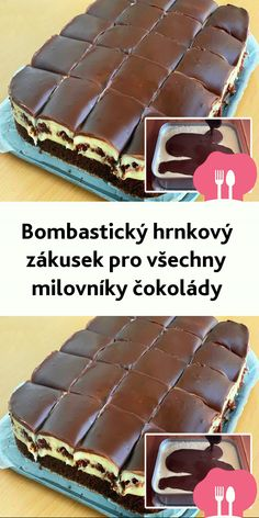 Bombastický hrnkový zákusek pro všechny milovníky cokolády Czech Recipes, Ethnic Recipes, Icing Recipe, Graham Crackers, Cheesecake, Deserts, Food And Drink, Banana, Cooking