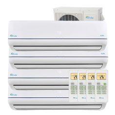 36000 Btu Quad Zone Mini Split Air Conditioner Heat Pump Sena 36hf Q Air Conditioner Design Heating And Cooling Heated Floors