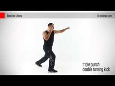 Triple Punch + Double Turning Kick