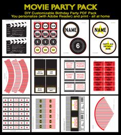 Movie Night Party Printables
