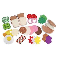 Felt Food Sandwich Play Set.