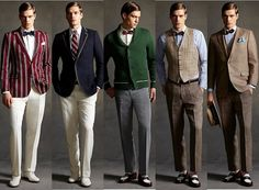 Actually, the 1920s men fashion euforia came from the look of The Great Gatsby film adaptation. Description from stylesally.com. I searched for this on bing.com/images