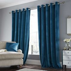 Ashford Teal Lined Eyelet Curtains Dunelm Teal Bedroom, Living Room Decor Curtains, Bedroom Design, Luxurious Bedrooms, Blue Curtains Living Room, Blue Bedroom, Teal Curtains, Living Room Grey, Teal Living Rooms