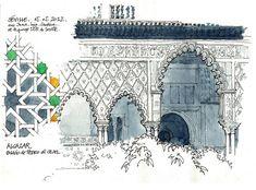 .   .   El arquitecto belga, afincado en Lieja, Gérard Michel se ha paseado por toda Europa y los Estados Unidos tomando apuntes en su cuad...