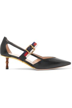 Heel measures approximately 45mm/ 2 inches Black leather Buckle-fastening strap Made in Italy