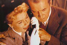 """Doris Day y James Stewart en """"El Hombre que sabía demasiado"""", 1956"""