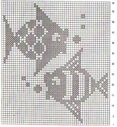 Crochet patterns toys little cotton rabbits 58 New Ideas Filet Crochet, Crochet Fish, Crochet Motifs, Crochet Mittens, Crochet Blocks, Crochet Chart, Crochet Doilies, Beaded Cross Stitch, Cross Stitch Borders