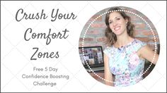 FREE 5 Day Challenge - Crush You Comfort Zones 5 Day Challenge. See how small steps outside of your comfort zone can make a big difference! Bio Instagram, Body Confidence, Small Changes, Body And Soul, Achieve Your Goals, Inspire Others, Comfort Zone, Personal Branding, Crushes