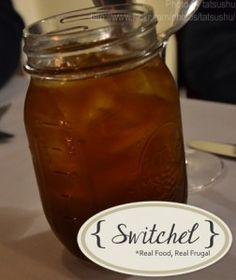 Health Benefits of Switchel-- beverage with honey, apple cider vinegar, blackstrap molasses, and ginger