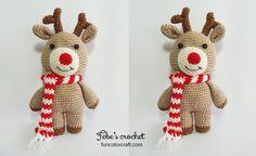 Reindeer Christmas Amigurumi Crochet Pattern Free
