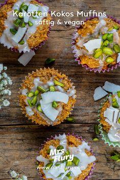 Saftige Rüebli Kokos Muffins vegan - Mrs Flury - gesund essen & leben Avocado Toast, Breakfast, Food, Cupcakes, Fitness, Party, Healthy Desserts, Vegan Baking, Sugar Free Baking