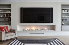 65 simple fireplace décor ideas on budget (36)