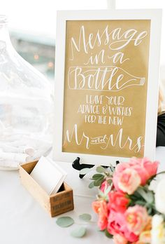 Ask friends and family to leave messages in a bottle for you and your spouse to open on your wedding anniversary | Brides.com
