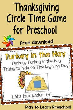 Here's a quick and easy Thanksgiving game that you can play to review shapes and colors with your preschooler. Would be great for circle time, but also would be fun for preschool at home. Preschool Art Projects, Preschool Lesson Plans, Preschool At Home, Free Preschool, School Projects, Preschool Activities, Circle Time Games, Teaching Calendar, Thanksgiving Activities For Kids