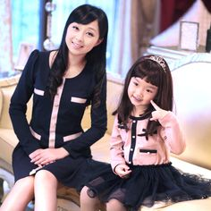 Aliexpress.com : Buy Free shipping 2012 autumn pink navy blue one piece dress family fashion clothes for mother and daughter children's clothing from Reliable clothes dresses suppliers on Online Store 613582. $30.64