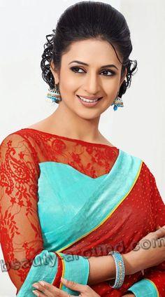Indian Tv Actress, Indian Actresses, Beautiful Gorgeous, Beautiful Saree, Beautiful Women, Most Beautiful Indian Actress, Beautiful Actresses, Divyanka Tripathi Saree, Designer Sarees Collection