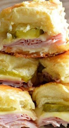 Cuban Sliders - don't skimp on pickles, we added a solid layer to these delicious sliders! -- NJD