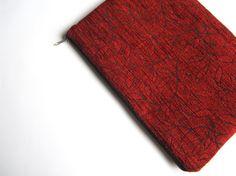 Red MacBook Air 13 sleeve with zipper MacBook Air 13 by CasesLab, $25.00