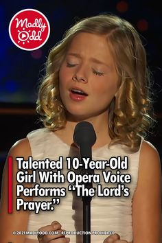 """A talented 10-year-old contestant shows off her phenomenal opera singing at the Dream With Me concert. Singing """"The Lord's Prayer,"""" Jackie Evancho brings soul and emotion to this classic Christian poem. #Hymn #Poem #Music #AmericasGotTalent America's Got Talent Videos, Keith Urban Songs, Christian Poems, Jackie Evancho, 10 Year Old Girl, Music Sing, Opera Singers, My Favorite Music, The Voice"""