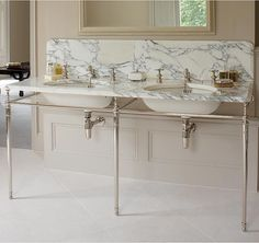 The Double Lowther with Arabescato Marble