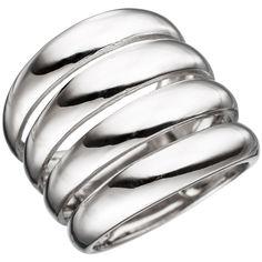 Schicker Silber-Ring: Ring aus Silber breit, im 4-Ringe-Look
