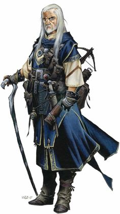 Always thought it would be interesting to play an older character.    Pathfinder Wizard