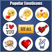 Amaze your friends with our easy-to-use emoticons! Share emoticons in your comments and messages, or post on a timeline to convey everything you're feeling. New Emoticons, Symbols Emoticons, Facebook Emoticons, Animated Emoticons, Emoji Symbols, Smileys, All Emoji, Kiss Emoji, Emoji Love
