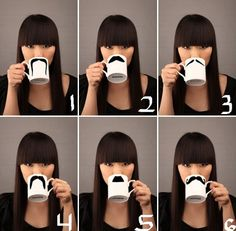 Mustache mugs... I think I could make this - for lukes bday