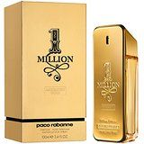 Masculine fragrance 1 Million  The spicy - woody - oriental compositions of this intensified and deeper version begins with fresh and spicy notes of blood mandarin, cardamom, black pepper and saffron. Rose absolute, neroli and cinnamon form the perfume's heart, situated at the base of white leather, orris root, patchouli and sandalwood.  This product is manufactured in France.