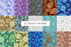 15 SEAMLESS PAISLEY PATTERNS @creativework247