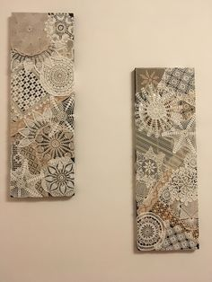 Old things in a new way: modern decor with lace Crochet Wall Art, Crochet Wall Hangings, Doily Art, Lace Art, Framed Doilies, Lace Doilies, Diy Arts And Crafts, Home Crafts, Doily Patterns