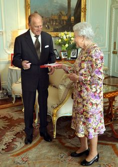 The Duke of Edinburgh today received from his wife the Queen the Order of New Zealand  at Buckingham Palace 6 June 2013