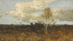 """Landscape, Robert Swain Gifford, oil on canvas, 6 x 10"""", private collection."""