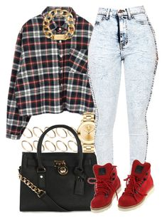 """""""Little Red."""" by livelifefreelyy ❤ liked on Polyvore featuring ASOS, Michael Kors and Movado"""