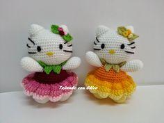 Hello Kitty - Free Amigurumi Pattern - Scroll Down for the English pattern below Spanish Pattern here: http://tejiendoconchico.blogspot.com.es/2014/11/hello-kitty-15.html