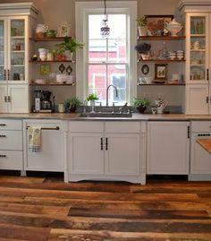 Buffalo New York Kitchen with Reclaimed Hardwoods Flooring contemporary kitchen