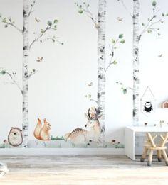 Jedinečný a zároveň veľmi univerzálny vzor stromčekov, ktorý dodá každej izbičke pocit lesa. Tento vzor bude skvelo vyzerať v obývacej izbe, ale bude tiež krásne zdobiť spálňu alebo detskú izbičku. Wallpaper, Stickers, House, Home Decor, Homemade Home Decor, Home, Wallpapers, Sticker, Haus