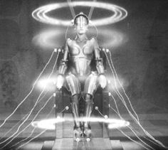"""Maria from Fritz Lang's """"Metropolis"""", a 1927 futuristic/Art Deco film masterpiece, finally restored to its original form and length in 2010"""