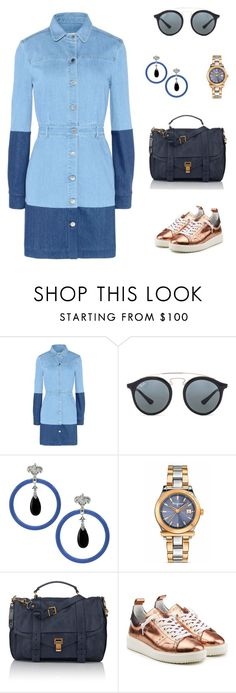 """""""Untitled #2021"""" by bushphawan ❤ liked on Polyvore featuring STELLA McCARTNEY, Ray-Ban, Dallas Prince, Salvatore Ferragamo, Proenza Schouler and Golden Goose"""