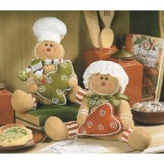 Christmas Gingerbread Couple