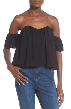 4SI3NNA High/Low Off the Shoulder Top available at #Nordstrom