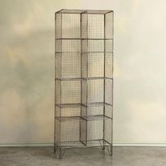 Wright's Peak wire tall storage shelves from the Sundance Catalog. Would be useful as bathroom storage in the hall.