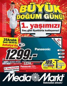 Media Markt Antalya 25-27 Aralık 2012 Büyük Doğumgünü İndirimi