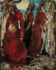 """''L'antipapa'' (''The Antipope"""") 1941 c.  Olio su cartoncino montato su tavola, 32,5 x 26,5 cm  Collezione Peggy Guggenheim, Venezia 76.2553 PG 79  © Max Ernst, by SIAE 2008"""