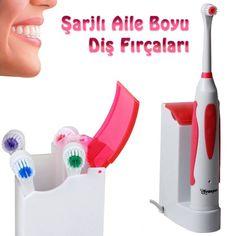 4 Başlıklı Titreşimli Şarjlı Diş Fırçası Aile Seti