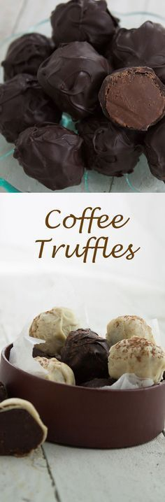 Coffee truffles! Coffee flavoured truffles with a hint of Kahlua, hand ...