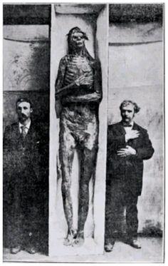 diciotto scheletri giganti del Winsconsin