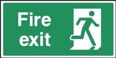 Fire Exit RIGHT Emergency Escape safety sign