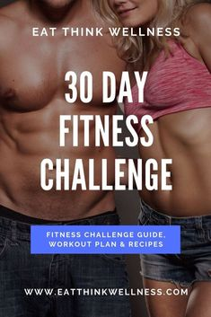 Eat Think Wellness created this 30 day fitness challenge to fit seamlessly into your life, allowing you to feel healthier and happier in just 30 days! 30 Day Fitness, Health And Fitness Tips, Fitness Goals, Fitness Workouts, Mens Fitness, Health Tips, Help Losing Weight, Lose Weight, Weight Loss