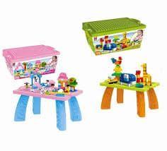 Masuta pentru constructii ideala incepatorilor. Capacul masutei este special conceput pentru a fi o baza pentru plasarea cuburilor, si datorita picioarelor incluse in pachet, prin imbinarea cu acestea, se transforma intr-o micuta masuta pentru constructii. Toy Story, Toys, Activity Toys, Clearance Toys, Gaming, Games, Toy, Beanie Boos